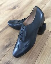 J Crew Leather Wing-Tip Oxfords Black Sz 9.5 Style# B0390 $258 New