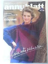 Anny Blatt No 66 Knitting Patterns / Vintage / French