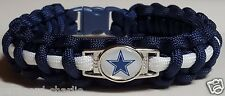 Dallas Cowboys Navy and White Handmade Paracord Bracelet or Lanyard or Key Chain