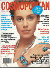 COSMOPOLITAN MAGAZINE MARCH 1991 JULIE FEITEN COVER