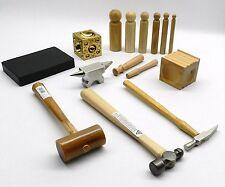 Metalsmith Tool Kit Basic Blocks Hammers Metal Smithing Jewelry Making Tools Set