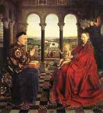 Eyck Jan Van The Virgin Of Chancellor Rolin A4 Print