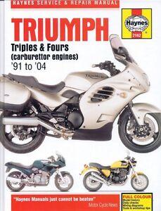 Haynes 1991-2004 Triumph carb 3/4 workshop manual #2162