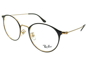 Ray-Ban Eyeglasses RX RB 6378F 2905 51-21 Gold Shiny Brown Round