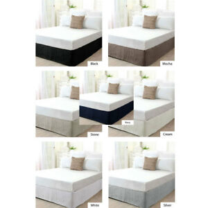Quilted VALANCE Bedskirt by Ardor Single King Single Double Queen King Bed Size