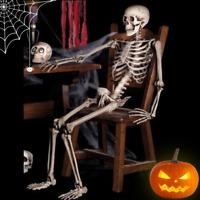 Skeleton Halloween Props Skull Lifelike Human Body Horror House Decoration Party