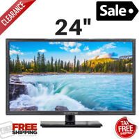 24 inch LED Full HD Monitor Television HDTV Slim TV Screen HDMI VGA USB Laptop