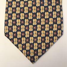 ALEXANDER JULIAN COLOURS Men's Tie Flower Geometric 59L 4W NWOT USA Retail - $79