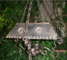 Antico grande lampione lampadario ferro battuto x rustico veranda agriturismo