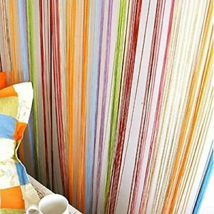Multicolor Set of 2, Multicolored String Thread Room Door Curtain - 7ft x 3.6ft