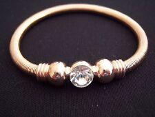 Farbe Rosegold Armband Kugeln - Ø 9 mm Kristall Strass - dehnbar Spiralband NEU
