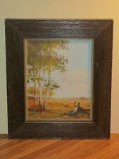 Rose Leonard Oil On Board Landscape Painting, Listed Canadian Artist, Signed