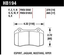 Hawk Performance HB194W.570 Excellent Release Characteristics Disc Brake Pads