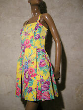CHIC VINTAGE ROBE 1970 VTG DRESS 70s KLEID 70er ABITO ANNI 70 SEVENTIES (34/36)