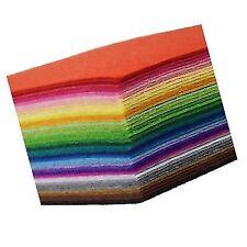 42pcs Felt Fabric Sheet 4 X4 Assorted Color DIY Craft Squares Nonwoven 1mm Thick