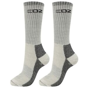 EDZ All Climate Merino Boot Socks Grey 2 Pack