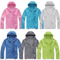 Women Mens Rain Coat  Hoodies Jogging Hiking Waterproof Windproof Jacket Outwear