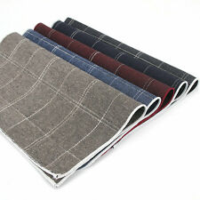 Lot 5 Packs Men's Cotton Handkerchief Plaids Checks Suit Pocket Square Hanky