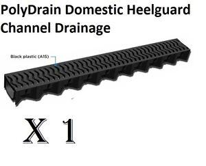 PolyDrain Heelguard 1 X 1 Meter Storm Channel Driveway Garden Garage Rain Water
