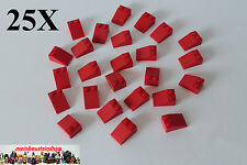 25X Lego® 3298 Basic Dachstein, Slope, Roof Tile, 25° 2X3 Rot, Red