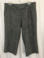 Will Smith Womens Capri Cropped Pants Size 10 Gray  Office Trendy Linen Blend