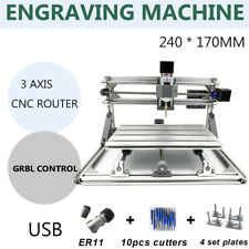 CNC Router 2417 3 Axis DIY Desktop Laser Mini Engraving Macchina Incisore Cutter