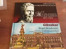 Gibraltar 2 souvenir booklets Royal Residences and Michelangelo Buonarroti