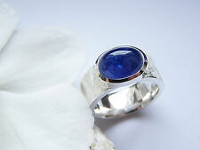 Ring  Silber  925  Weite 62  Tansanit  Cabochon  7,28 ct   13 x 10 mm