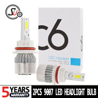 2PCS 9007 HB5 LED Headlight Conversion Kit Bulbs 1800W 270000LM Lamp Hi/Lo 6000K