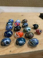 17 Vintage NFL Mini Gumball Vending Machine Plastic Football Helmets 2000s