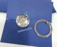 Swarovski Crystal Ball Key Ring Holder SWAN LOGO Authentic MIB 623413 = 5430348