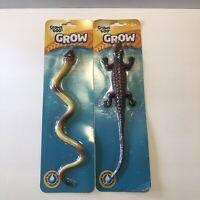 Grow Snake/crocodile Reptile Toy Creature Grows Up To 600% In Water 2 Lot