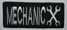 MECHANIC  logo racing sport biker Iron/Sew on Embroidered Message jeans Patch
