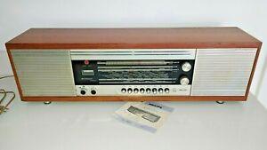 Vintage Philips Saturn Stereo 571 Valve Tube Radio,Original Booklet for repairs