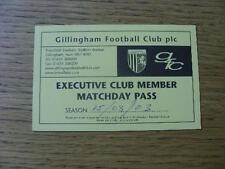 15/03/2003 Ticket: Gillingham v Rotherham United (Executive Club Pass). No obvio