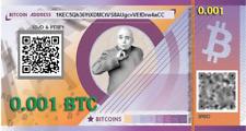 Prepaid BITCOIN gift card  - 0.001 BTC