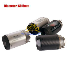 Motorcycle Exhaust System Tip Muffler Pipe Universal 60mm For Scooter Dirt Bike