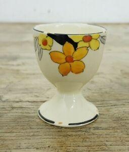 Vintage Alfred Earle Art Deco Flower Bone China Pedestal Egg Cup