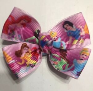 *NEW* Princesses All Together (2 Inches) Baby Magic Hairbows Non Slip Clips
