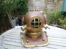 VINTAGE RIPRODUZIONE Deep Sea subacquei Casco Copper & Brass
