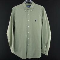 Mens Polo Ralph Lauren Classic Fit Oxford Golf Dress Shirt Size 16.5 34/35 Large