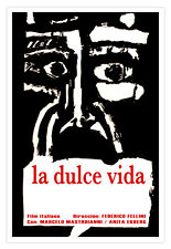 "Decor movie Poster for""La DULCE Vida""Sweet Life.Italian film by Fellini.Room art"