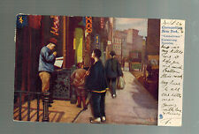 1906 New York City Usa Chinatown Picture Postcard Kerbstone Traders