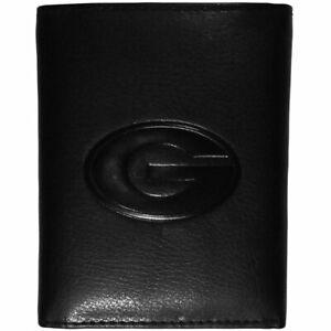 Georgia Bulldogs Embossed Tri-fold Wallet, Black