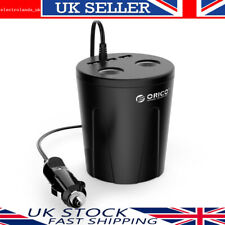 ORICO 12V Car Charger Adapter with 3 fast USB Port & 2 Socket Cigarette Lighter