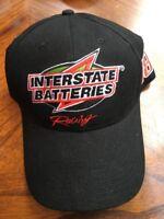 Interstate Batteries Racing #18 Bobby Labonte Black Snap Back Baseball Cap Hat