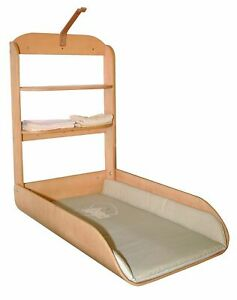 Changer Of Nappy Baby Flip Of Wall With Mattress Wooden Colour Beech Roba