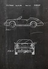Porsche Patent Art Fine Art Print in gallery quality a4 Art Print Sheet 3. 01