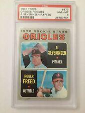 1970 Topps Baseball Orioles Rookie Serveringen/Freed #477 PSA Graded 8 NM-MT