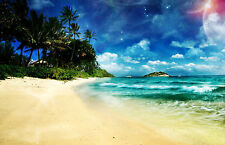 Framed Print - Serene Calm Environment of the Tropics (Picture Beach Tropical)
